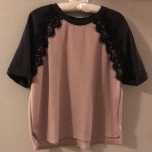 Old Navy short sleeve baseball tee with lace
